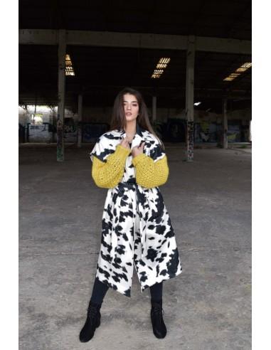 Παλτό κοντομάνικο γυναικείο animal print
