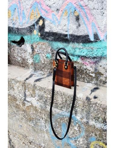 Μικρή καρό τσάντα